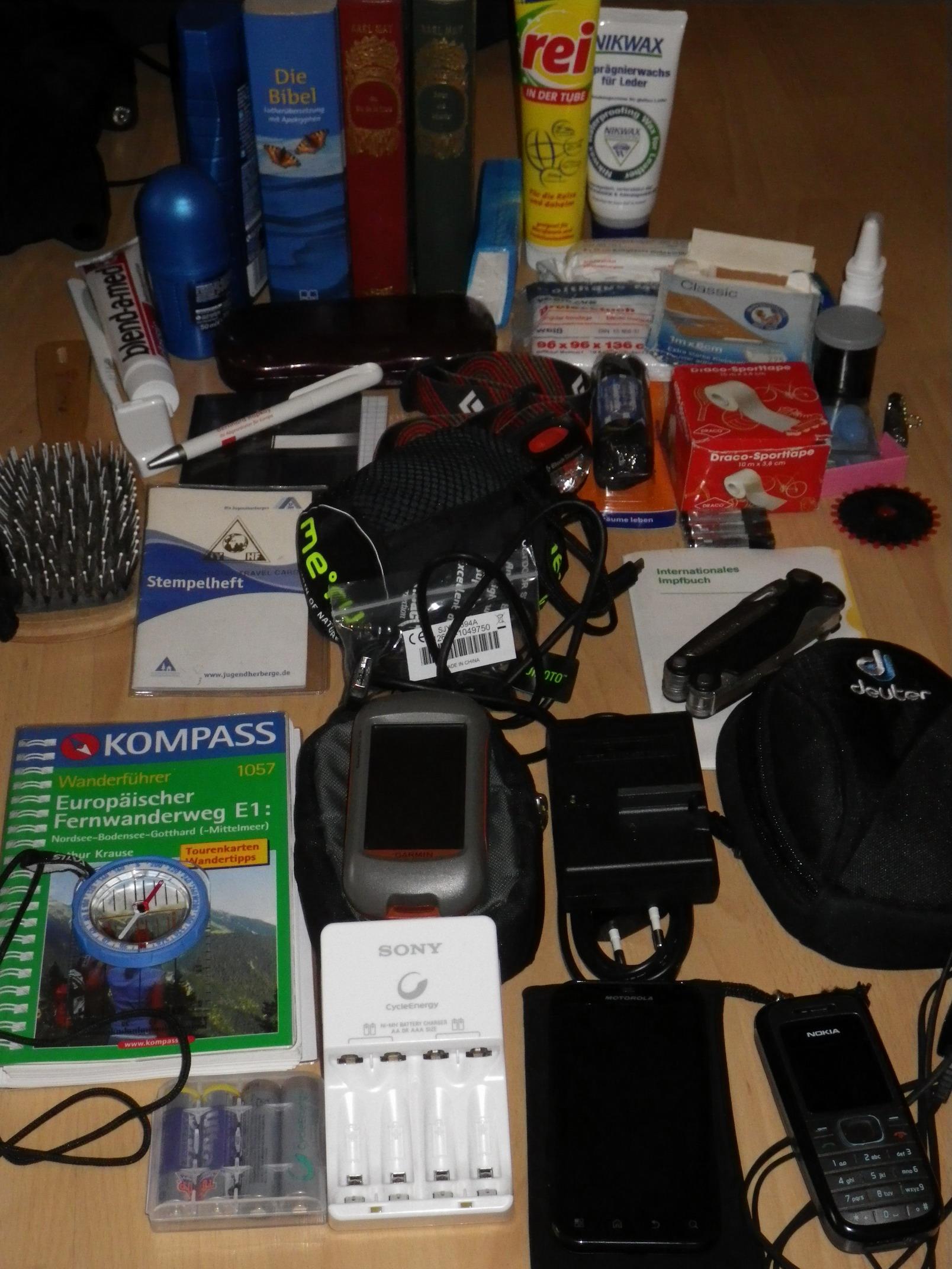 Elektronik, Hygiene, Bücher, Werkzeuge,...